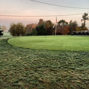 Lower Practice green under a frost delay. Please stay off until the sign is removed. Thank you!