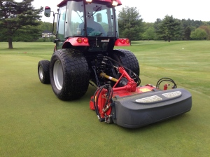 The attachment is a PTO driven attachment with over 100 blades!